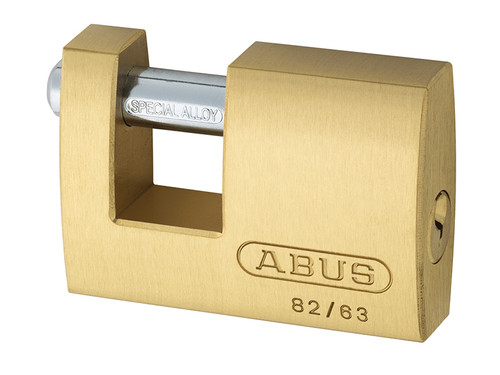 ABUS Mechanical ABU8263C 82/63mm Monoblock Brass Shutter Padlock Carded | Toolden