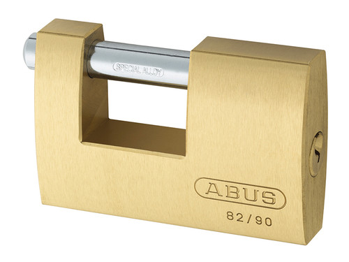 ABUS Mechanical ABU8290C 82/90mm Monoblock Brass Shutter Padlock Carded | Toolden