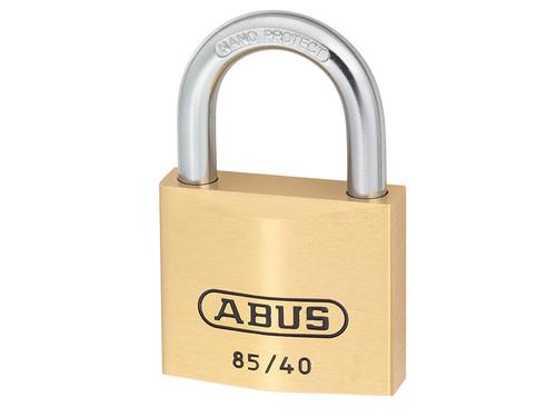 ABUS Mechanical ABU8540C 85/40mm Brass Padlock Carded | Toolden