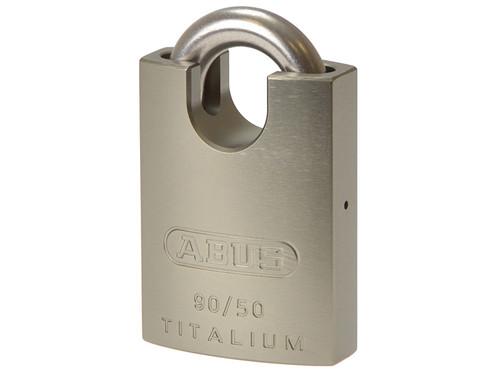 ABUS Mechanical ABU90RK50C 90RK/50 TITALIUM Padlock Closed Shackle Carded