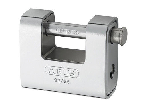 ABUS Mechanical ABU9265C 92/65mm Monoblock Brass Body Shutter Padlock Carded | Toolden