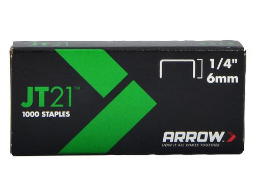 Arrow ARRJT2114 JT21 T27 Staples 6mm (1/4in) Box 5000 | Toolden