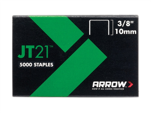 Arrow ARRJT2138 JT21 T27 Staples 10mm (3/8in) Box 5000 | Toolden