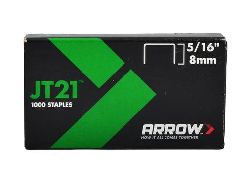 Arrow ARRJT21516 JT21 T27 Staples 8mm ( 5/16in) Box 5000 | Toolden