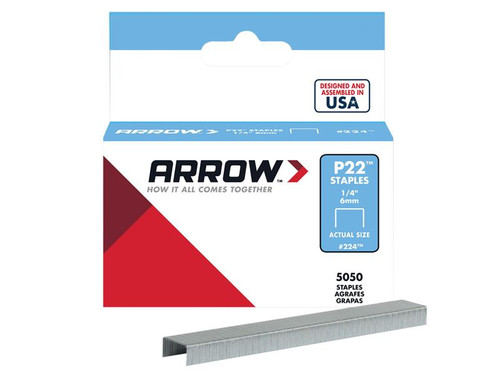 Arrow ARRP2214 P22 Staples 6mm (1/4in) Box 5050 | Toolden