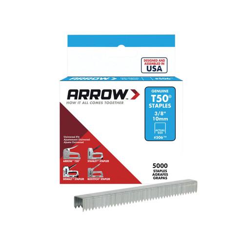Arrow ARRT5038IP T50 Staples 10mm (3/8in) Bulk Pack 5000 | Toolden