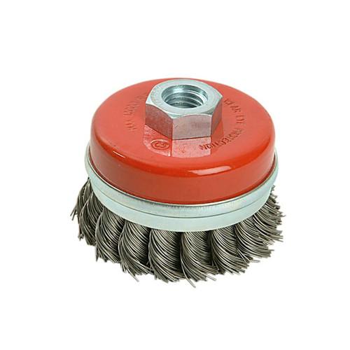 Black & Decker B/DX36080 Twist Knot Wire Cup Brush 65mm M14  | Toolden