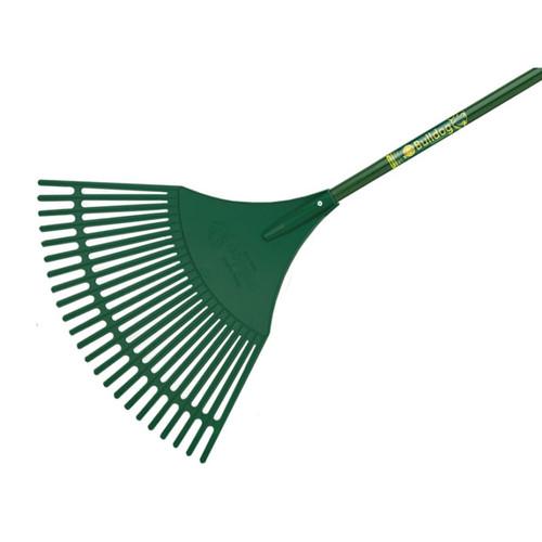 Bulldog BUL7128 Evergreen Plastic Leaf Rake Aluminium Shaft   Toolden