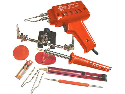 Faithfull Power Plus FPPSGKP SGKP Soldering Gun 100 Watt & Iron Kit 30 Watt 240 Volt | Toolden