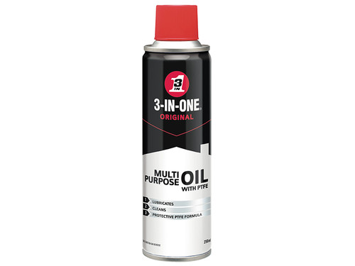 3-IN-ONE HOW31PTFE 3-IN-ONE Aerosol with PTFE 250ml | Toolden