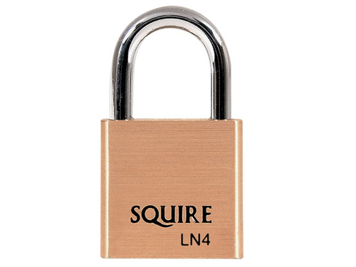 Henry Squire HSQLN4 LN4 Lion Brass Padlock 5-Pin 40mm | Toolden