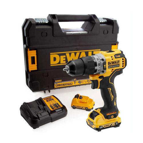 DeWalt DCD706D2 12V 2x2.0Ah XR Brushless Sub-Compact Hammer Drill Kit