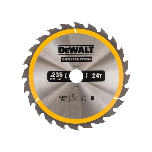 DeWalt DT1954QZ Portable Construction Circular Saw Blade 235 x 30mm x 24T | Toolden