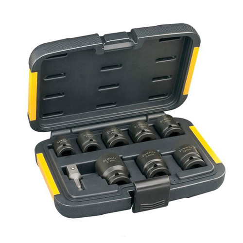 DeWalt DT7507 Impact Socket Set of 9 Metric 1/2in Drive | Toolden