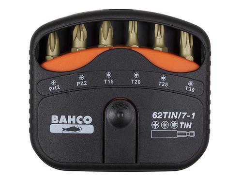Bahco 62TIN/7-1 Bit Set Tin PH / P Z / Torx 7 Piece