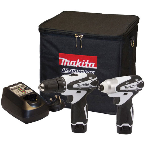 Makita DK1493WX 10.8v Lithium-Ion Cordless Combi Drill and Impact Driver Set    Toolden
