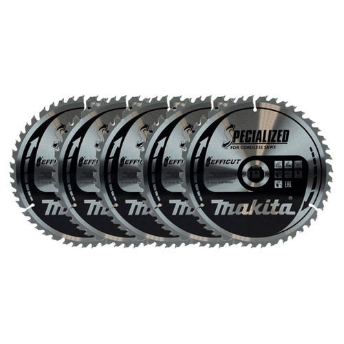 Makita B-64624 260x30mm 45T Efficut TCT Circular Saw Blade Pack Of 5 | Toolden