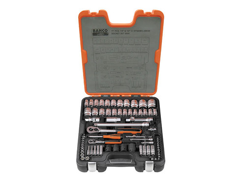 Bahco S800 Socket Set of 77 Metric & AF from Toolden
