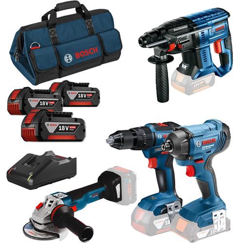 Bosch 0615990M2B 18v 4 Piece Brushless Cordless Kit | Toolden