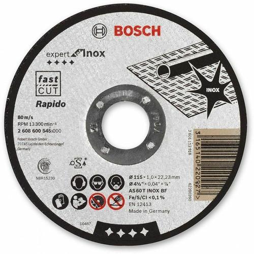Bosch 2608603169 115mm Rapido Straight Cutting Disc | Toolden