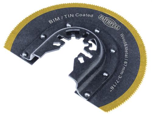 Faithfull Bi-Metal Tin Coated 87mm Radial Saw Blade   Toolden
