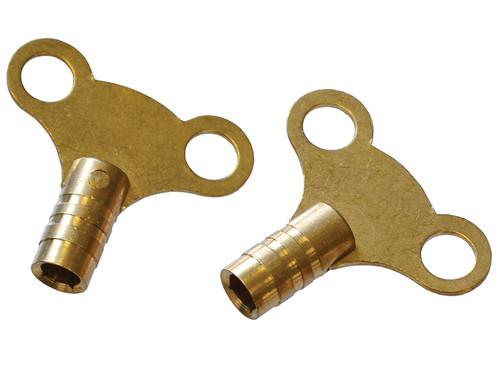 Faithfull Radiator Keys - Brass (card 2)