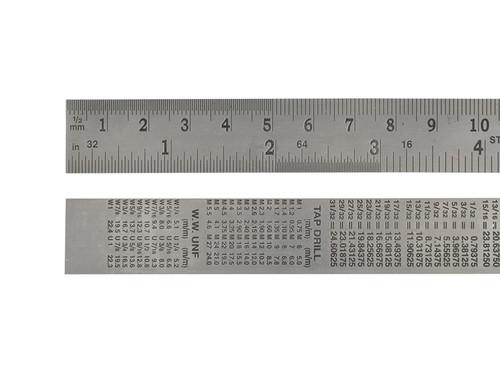 Faithfull Steel Rule 300mm / 12in x 25mm
