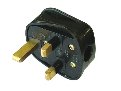 Faithfull Power Plus Black Rubberised Plug 240 Volt 13 Amp