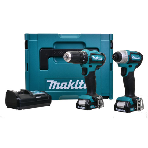 Makita CLX202AJ 10.8V Twinpack With Combi & Impact Driver from Toolden