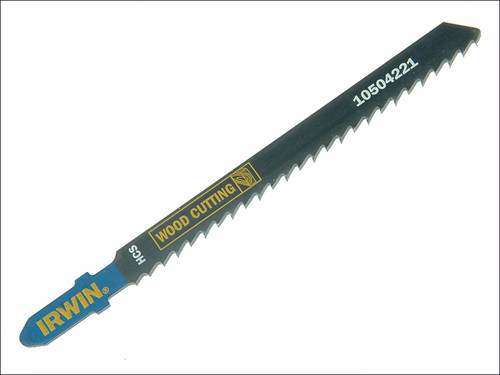 IRWIN Jigsaw Blades Wood Cutting Pack of 5 T101B