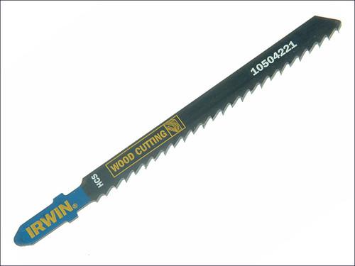 IRWIN Jigsaw Blades Wood Cutting Pack of 5 T101D