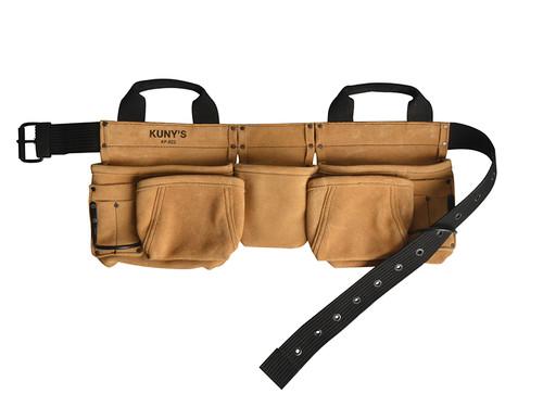 Kuny's AP-622a Carpenter's Apron 14 Pocket Split Grain Leather
