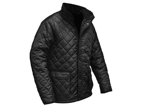 Roughneck Clothing Black Quilted Jacket - XL (46-48in)