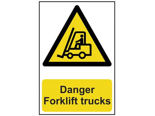 Scan Danger Forklift Trucks - PVC 200 x 300mm