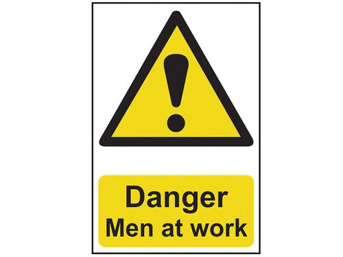 Scan Danger Men At Work - PVC 200 x 300mm