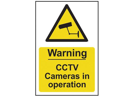 Scan Warning CCTV Cameras In Operation - PVC 200 x 300mm