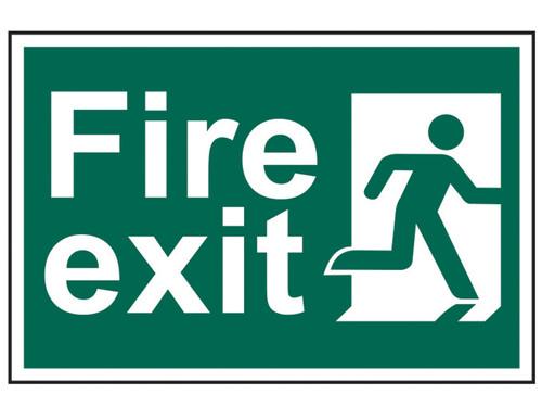 Scan Fire Exit Man Running Right - PVC 300 x 200mm