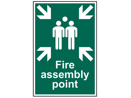 Scan Fire Assembly Point - PVC 200 x 300mm