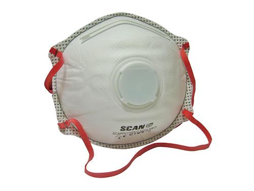 Scan Moulded Disposable Valved Masks FFP3 (Pack of 2)