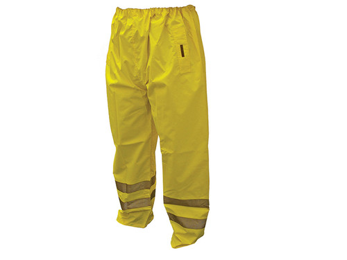 Scan Hi-Vis Motorway Trouser Yellow - M (34-36in)