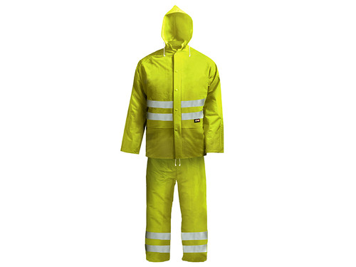 Scan Hi-Visibility Rain Suit Yellow - L (39-42in)
