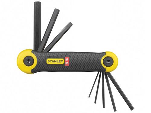 Stanley Tools Hexagon Key Folding Set of 8 Metric (1.5-8mm)