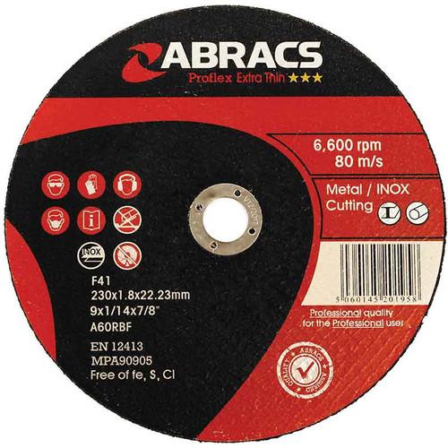Abracs Proflex Extra Thin Cutting Disc 230mm x 1.8mm x 22mm