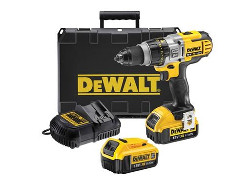 DeWalt DCD985M2 XRP Premium Combi Hammer Drill 18 Volt 2 x 4.0Ah Li-Ion from Toolden