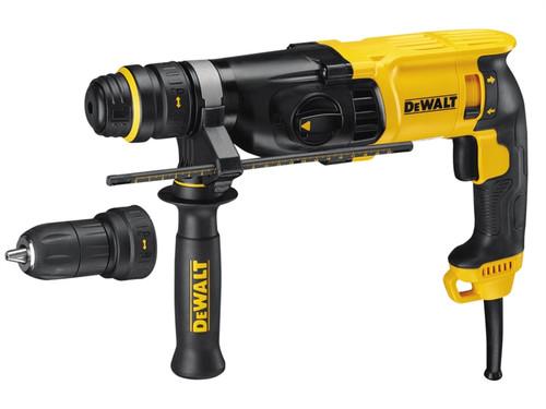 DeWalt D25134K SDS 3 Mode QCC Hammer Drill 800 Watt 240 Volt from Toolden