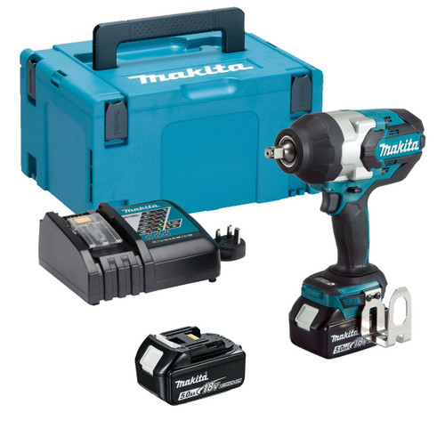 """Makita DTW1002RTJ 18v 1/2"""" Brushless Impact Wrench 2x5 From Toolden"""