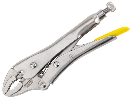 Stanley Curved Jaw Locking Pliers 185mm (7.1/4in)| Toolden