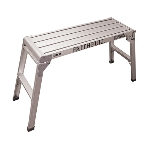 Faithfull Fold Away Step Up Aluminium L100 x H52 x W30cm from Toolden.