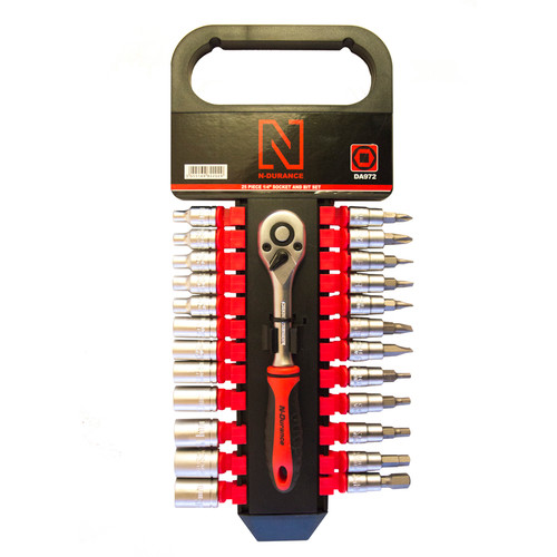 """N-Durance 25 Piece 1/4"""" Socket and Bit Set from Toolden."""