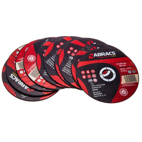 Abracs Proflex Extra Thin Cutting Discs 115mm x 1.0mm x 22mm - 10 Pack (PFET11510FI/1)